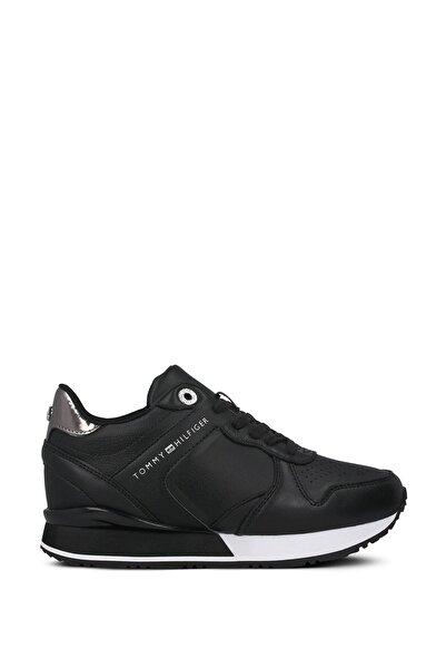 Tommy Hilfiger Kadın Siyah Bağcıklı Sneaker Fw0fw05016