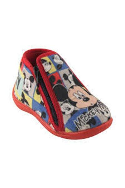 Mickey Mouse Lisanslı Desenli Erkek Çocuk Ev Ve Kreş Ayakkabısı