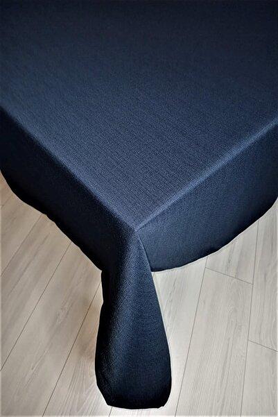 eno concept Keten Görünümlü Leke Tutmaz Lacivert Masa Örtüsü