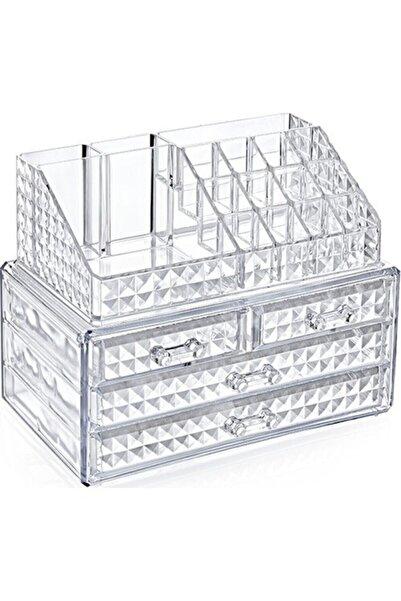 Tikatti Diamond Akrilik Lüx 4 Çekmeceli Full Makyaj Organizeri