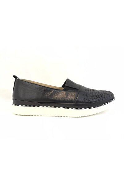 Stella Kadın Siyah Deri Ayakkabı