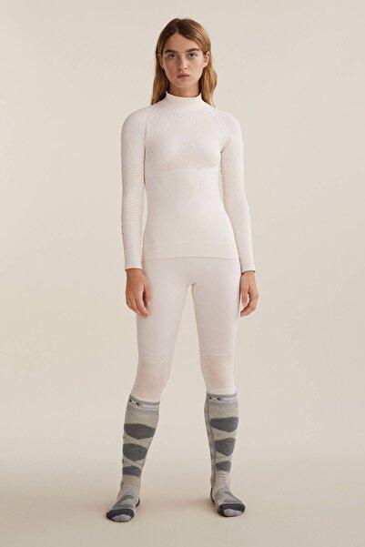 Oysho Kadın Ekru Dikişsiz Teknik Kayak Taytı X-Bionic Energizer® 4.0