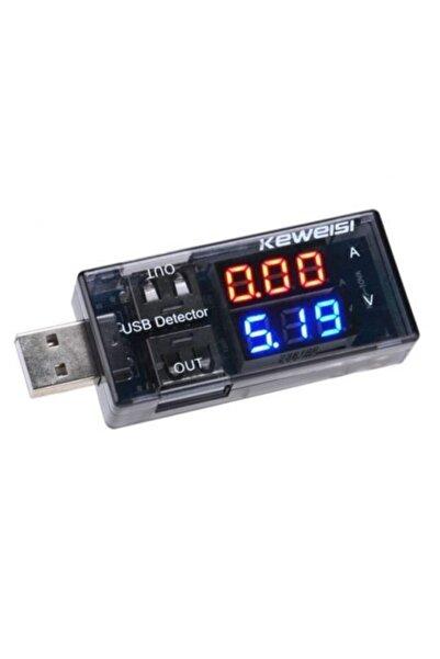 Ugreen Usb Akım Ölçer Çift Usb Çıkışlı Voltmetre Ampermetre Ölçüm Aleti