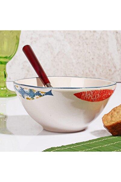 the vanillia Balık Desen Çorba Kasesi 6'lı Set
