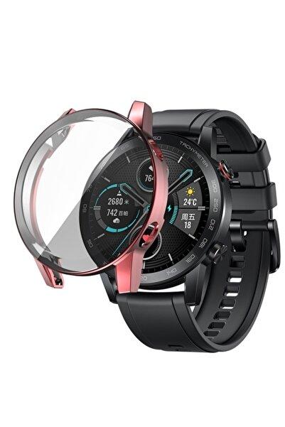 Revix Honor Watch Magic 2 46mm 360 Koruma Ultra Ince Silikon Kılıf (saat Değildir) - Pembe
