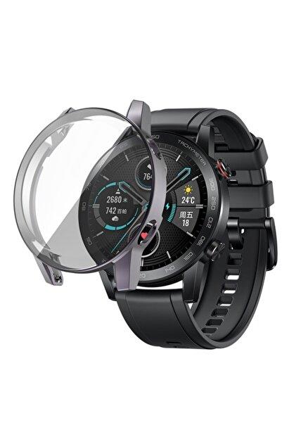 Revix Honor Watch Magic 2 46mm 360 Koruma Ultra Ince Silikon Kılıf (saat Değildir) - Gri