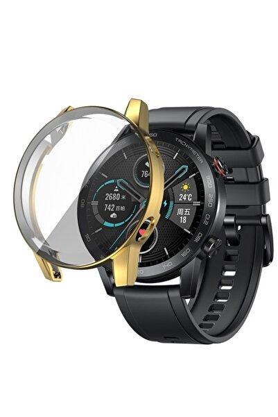 Revix Honor Watch Magic 2 46mm 360 Koruma Ultra Ince Silikon Kılıf (saat Değildir) - Gold