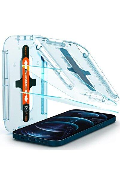 Spigen Iphone 12 Pro Max Ekran Koruyucu Glas Tr Ez Fit (2 Adet)