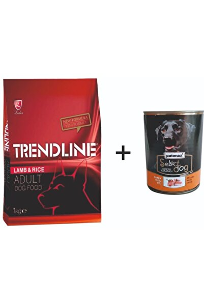 Trendline Kuzu Etli Köpek Maması 1 kg+Patimax Kuzulu 400 gr Yaş Mama