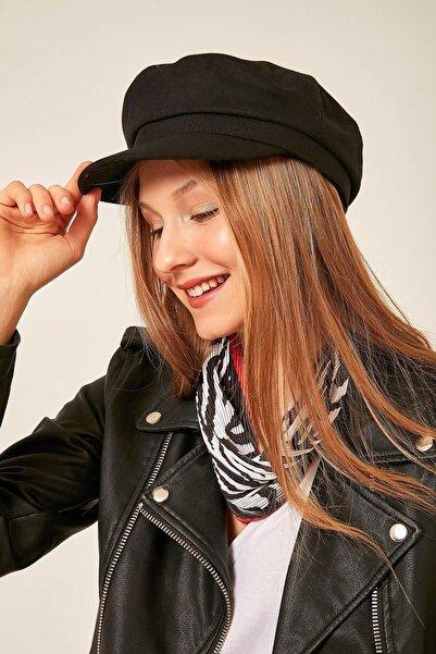 Axesoire 12830 Yünlü Siyah Denizci Şapkası