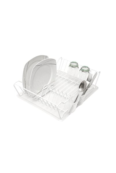 ZENSAN Tek Katlı Bulaşık Sepeti + Tabaklık - Pvc Kaplamalı Beyaz
