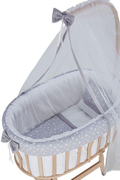 Babycom Gri Yıldızlı Sepet Uyku Seti
