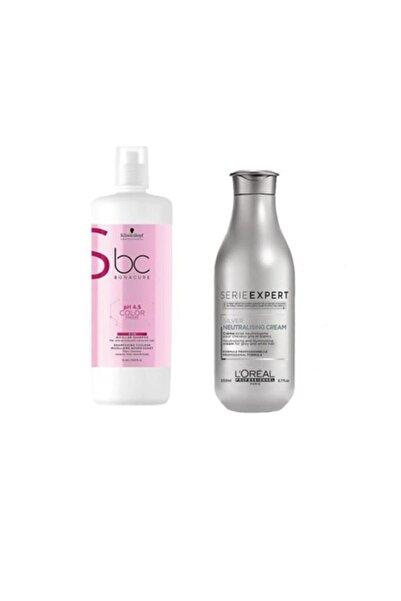 Bonacure 4.5 Color Silver Gümüş Şampuan 1000 Ml+loreal Silver Neutralising Krem 200 Ml