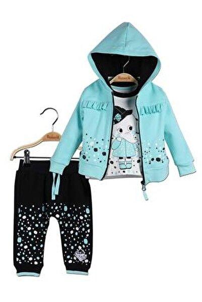 Kız Bebek Hırka Sweatshirt Pantolon 3lü Takım 14790