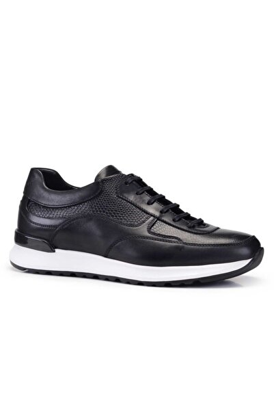 Nevzat Onay Erkek Siyah Hakiki Deri  Sneaker Ayakkabı 20y. 9258