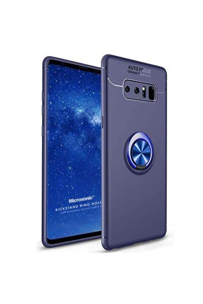 Microsonic Microsonic Galaxy Note 8 Kılıf Kickstand Ring Holder Lacivert