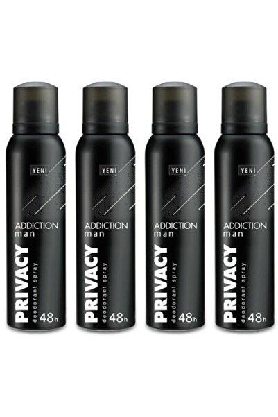 Privacy Addiction Man Deodorant 150 Ml X4