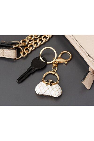 Madame Coco Beyaz Çanta Figürlü Anahtarlık