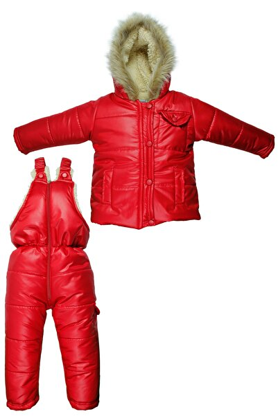Supriz Sepeti Welsoft Kız Bebek Kırmızı Astronot Mont Kız Çocuk Kozmonot Tulumu