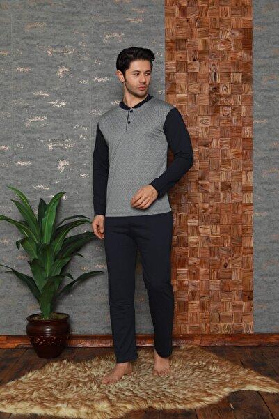 Stil Moda Erkek Gri Pijama Takımı