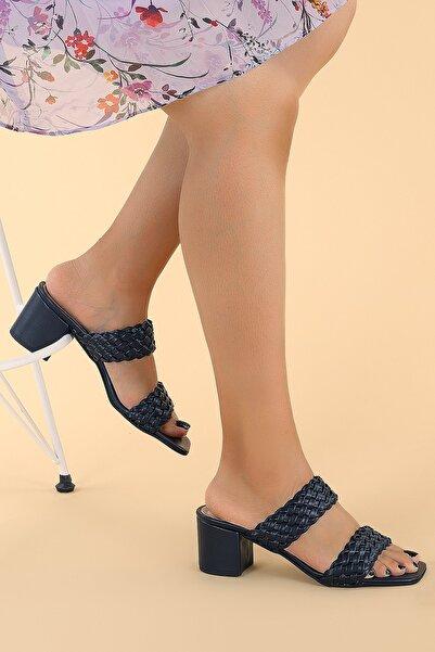 Ayakland Kadın Lacivert Sandalet Ayakkabı
