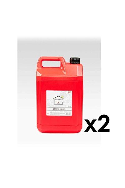 TTDEPO 10 Litrelik Bacasız Şömine Yakıtı Kolay Kullanım Bidonlu Ve Doldurma Aparatlı