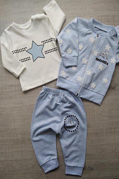 Bebek Exclusive Yıldızlı Erkek Bebek 3lü Takım