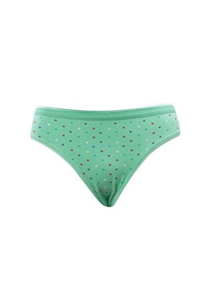 Tutku Kadın Yeşil Külot Tut600