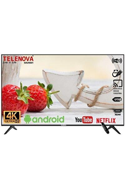 "TELENOVA 50U9001 50"" 127 Ekran Uydu Alıcılı 4K Ultra HD Android 9.0 Smart LED TV"
