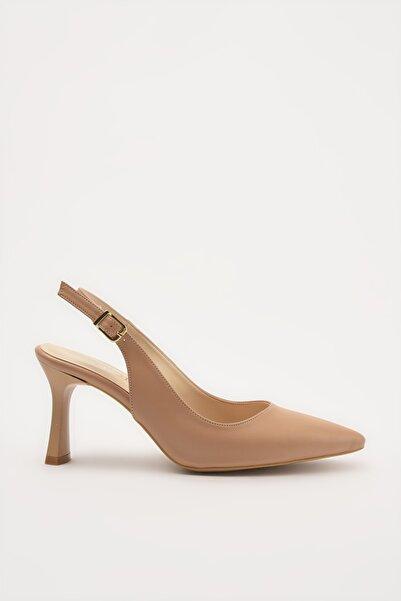 Hotiç Naturel Kadın Klasik Topuklu Ayakkabı 01AYH214420A330