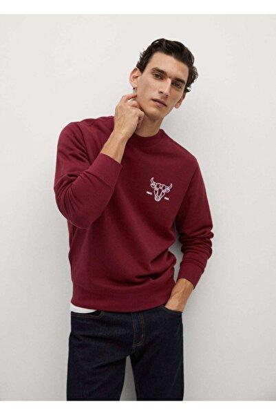 MANGO Man Hayvan Desenli Kabartmalı Sweatshirt