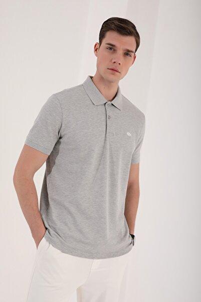 Tommy Life Erkek Basic Logolu Standart Kalıp Triko Polo Yaka T-shirt