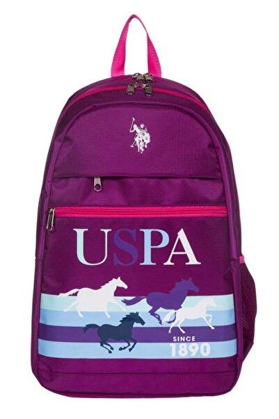 U.S. Polo Assn. Kadın Mor Sırt Çantası Plçan20216
