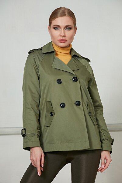 Icon Kadın Yeşil Ceket 520 Kb