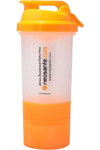 Neosante Neo 3 Hazneli Shaker (TURUNCU-ŞEFFAF)