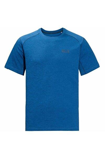 Jack Wolfskin Erkek T-shirt - 1806131 Electrıc - 1806131-ELECTRIC-BLUE