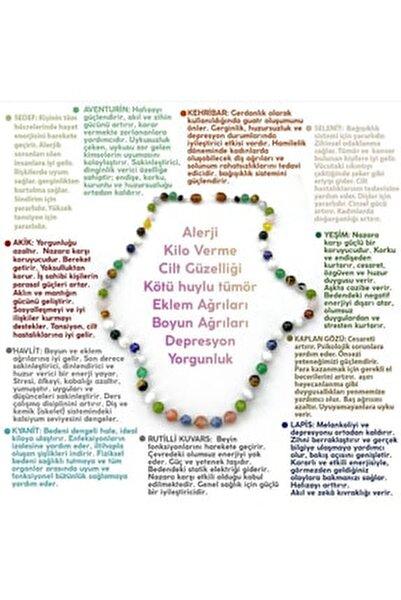 Akik-havlit-kyanit-lapis-yeşim-kaplan Gözü-selenit-kehribar-aventurin-sedef-rutilli Kuvars Kolye