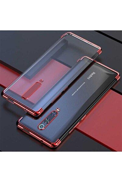 Xiaomi Mi 9t Kılıf Lazer Boyalı Renkli Esnek Silikon Şeffaf