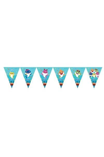 BalonEvi Lpb6331 Baby Shark Parti Zamanı Bayrak Set /bmp1520lpb6331