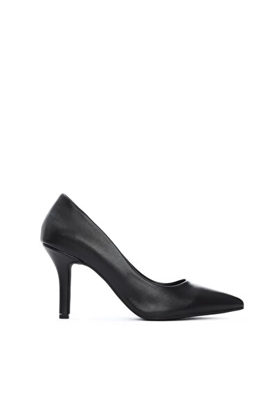 KEMAL TANCA Kadın Siyah Vegan Stiletto Ayakkabı 26 35036