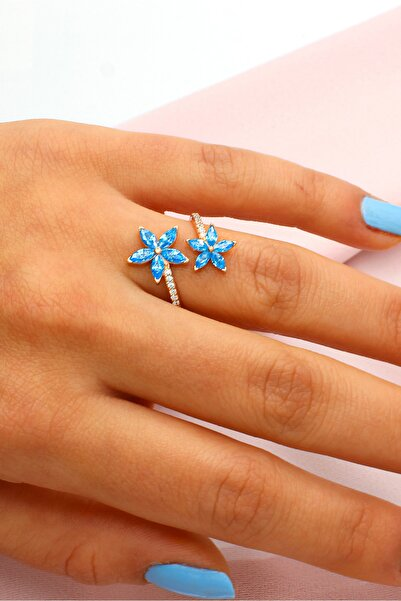 Else Silver 925 Ayar Gümüş Umut Çiçeği Yüzük