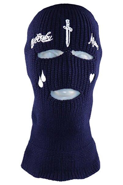 zirve şapka Kıişlık Ünisex 3 Gözlü Kar Maskesi Lacivert
