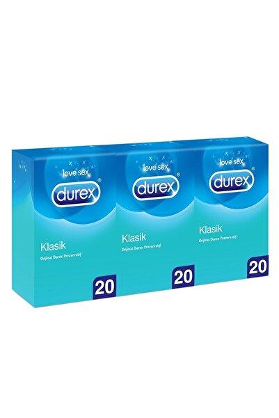Durex Klasik Kondom 20 Li X 3 Adet (60 Adet)