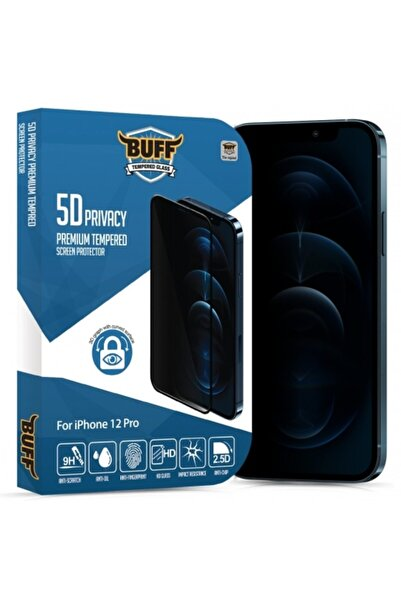 Buff Iphone 12 Pro Uyumlu 5d Privacy Ekran Koruyucu