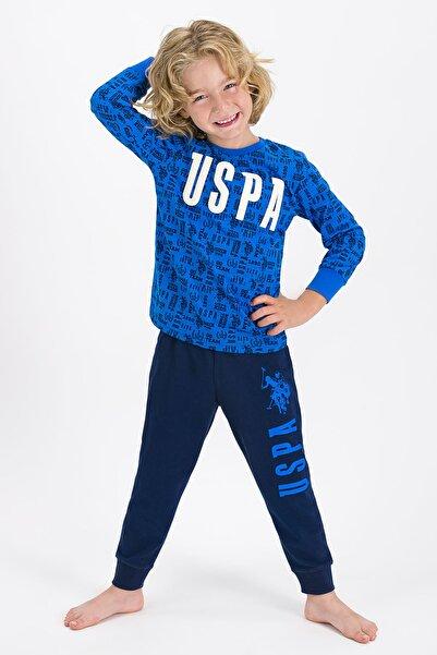 U.S. Polo Assn. U.S. Polo Assn Lisanslı Mavi Erkek Çocuk Pijama Takımı