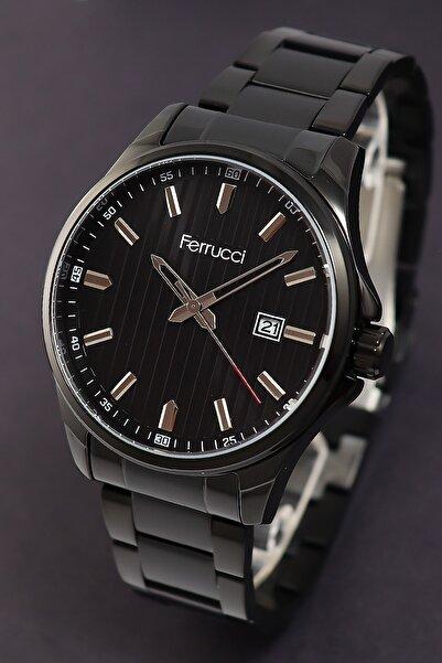 Ferrucci Erkek Siyah Takvimli Çelik Kol Saati 178021