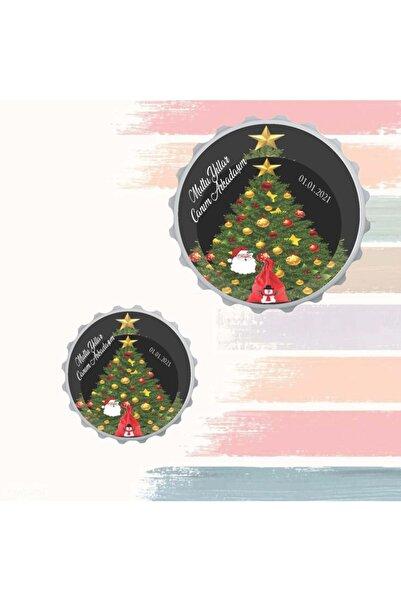 MAGNETTCHİ Yılbaşı Noel Ağaçlı Magnet Açacak (5 Adet)