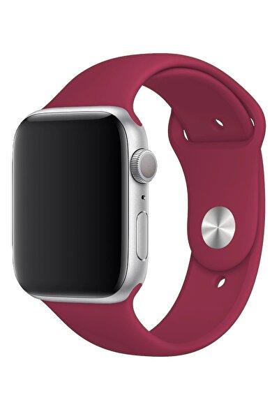 Fibaks Apple Watch 38mm A+ Yüksek Kalite Spor Klasik Silikon Kordon Kayış Bileklik