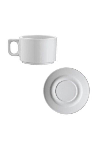Kütahya Porselen Beyaz Çay Fincan Seti 6lı