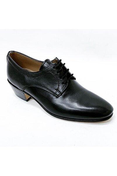 stok83 Erkek Siyah Hakiki Kösele Çarşamba Ayakkabı
